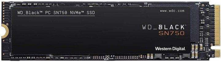 Твердотільний накопичувач SSD WD M. 2 NVMe PCIe 3.0 4x 500GB SN750 Black 2280 - зображення 1