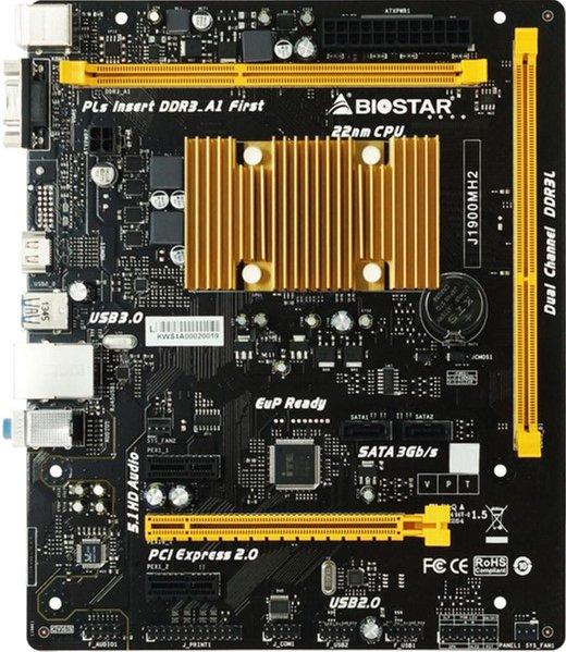 Материнська плата Biostar J1900MH2 (Intel Celeron J1900, SoC, PCI-Ex16) - зображення 1