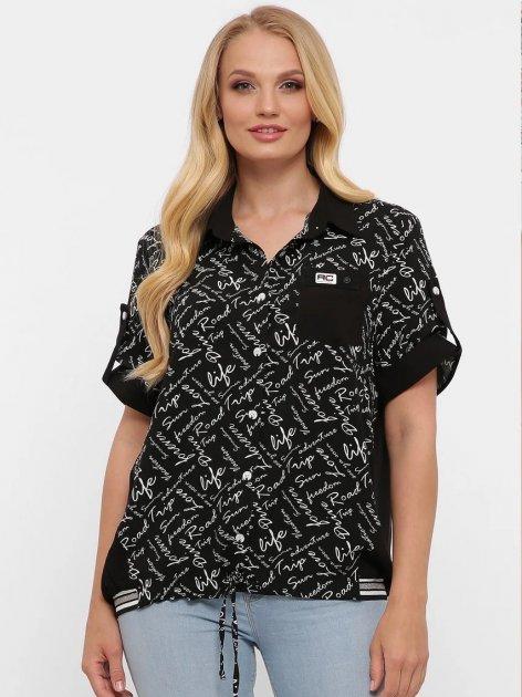 Рубашка VLAVI Белинда 128001 58 Черная (12800158) - изображение 1