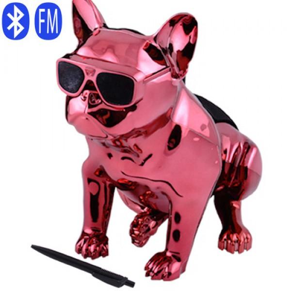 Bluetooth-колонка Aerobull S4 BIG DOG METALLIC c радіо , USB , червона - зображення 1