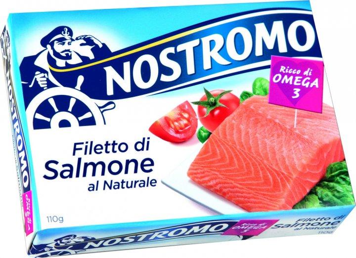 Лосось Nostromo у власному соку 110 г (8005850186517) - зображення 1