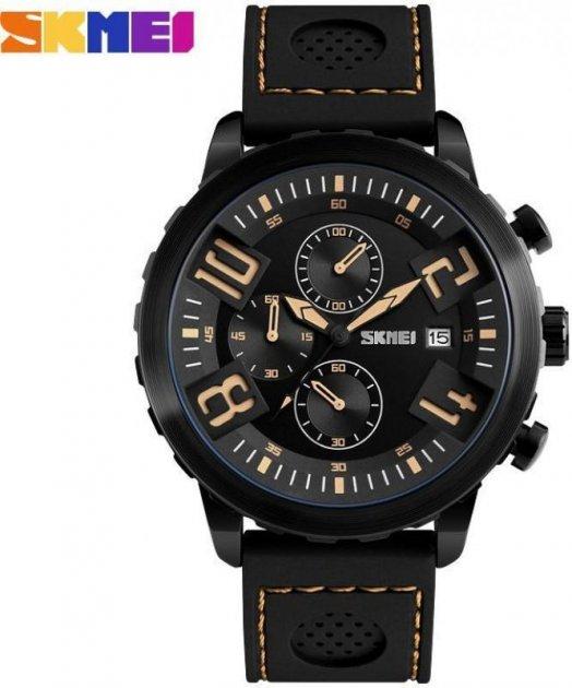 Наручні чоловічі годинники Skmei SK9153BBB-YEL - зображення 1