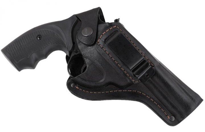 Кобура Beneks для Револьвера 4 формованная с клипсой Кожа Черная - изображение 1