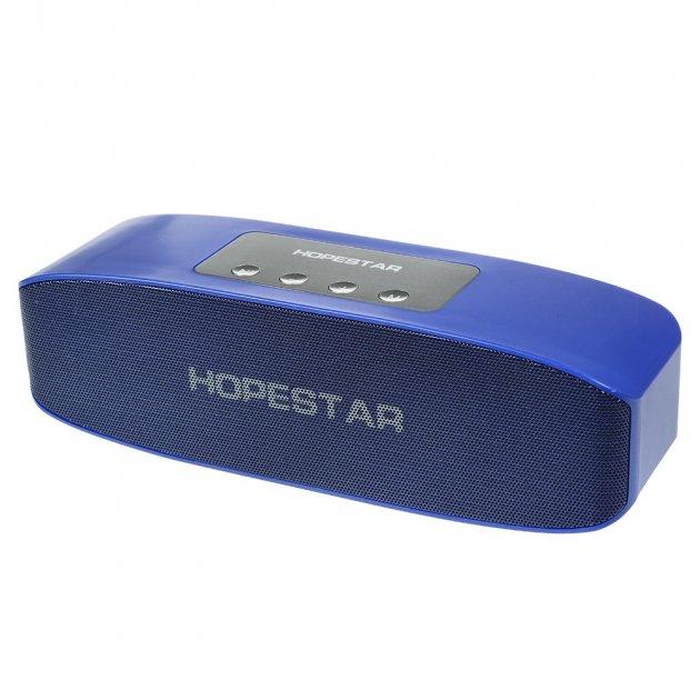 Портативная колонка Hopestar H11 + Bluetooth 4.2, встроенный микрофон, поддержка USB, TF 32Гб Синий (11336) - изображение 1
