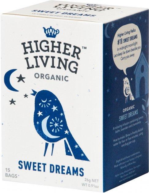 Чай Higher Living травяной органический Sweet Dreams 15 пакетиков (5060319120078) - изображение 1