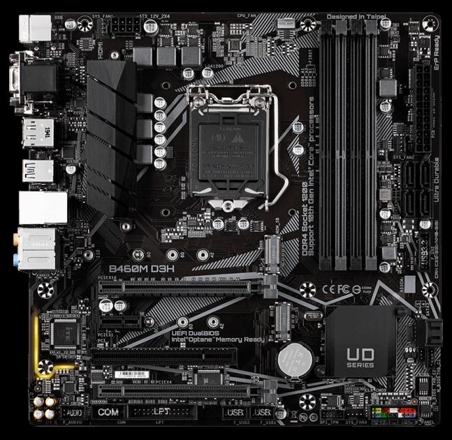 Материнская плата Gigabyte B460M D3H (s1200, Intel B460, PCI-Ex16)