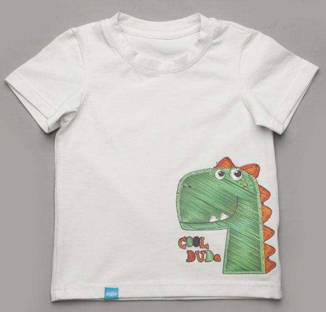 Футболка Модный карапуз 111-00026 110 см Белая (4823948612601) - изображение 1