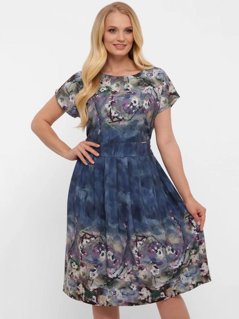 Платье VLAVI Лорен 1189240 50 Акварель Синее (11892400) - изображение 1