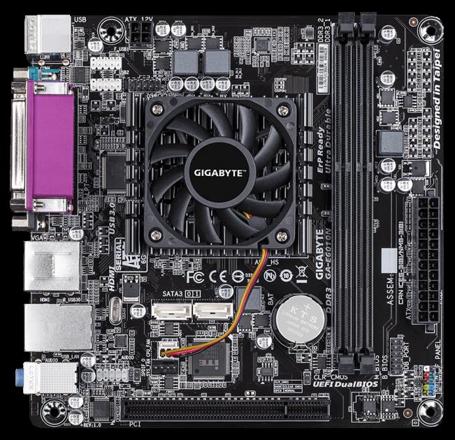 Материнская плата Gigabyte GA-E6010N (AMD E1-6010, SoC, PCI) - изображение 1