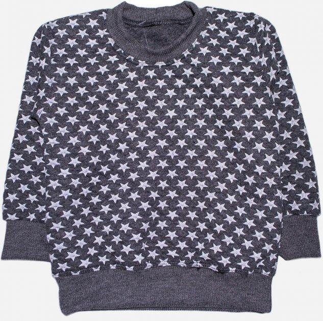Свитшот Малыш Style Темный ДЖ-07 52 р 86-92 см Серый (ROZ6400011946) - изображение 1
