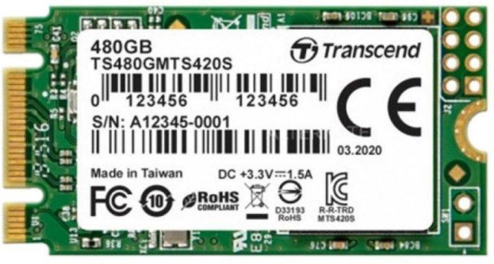 Transcend MTS420S 480GB M.2 2242 SATAIII 3D NAND TLC (TS480GMTS420S) - зображення 1
