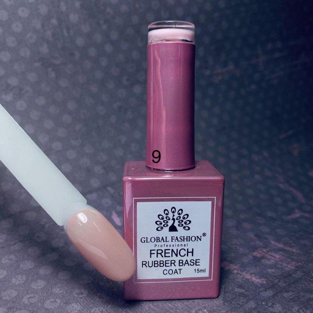 Каучукова камуфляжна база під френч Global Fashion French №09 - зображення 1
