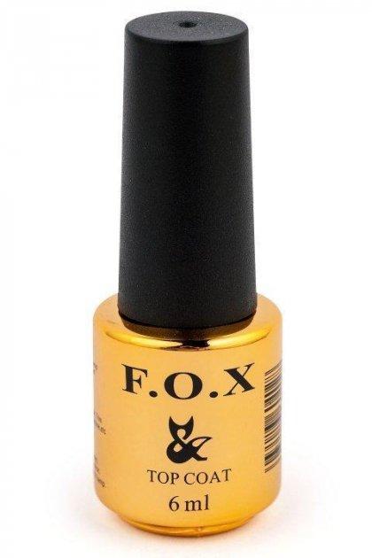 Топ каучуковий для нігтів F. O. X Top Rubber 6мл - зображення 1