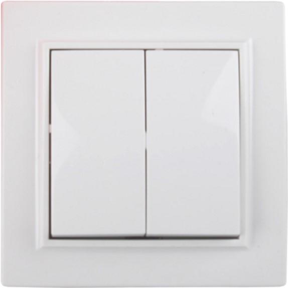 Выключатель двойной Electro House Белый (EH-2102) - изображение 1