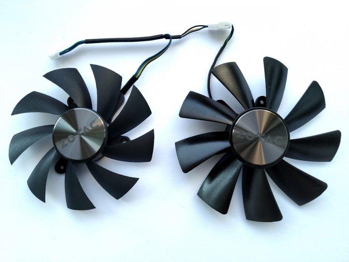 Вентилятор Apistek для видеокарты Zotac Mini GA92S2H GAA8S2U (FD9015U12S FD10015H12S) комплект 2 шт (№169) - изображение 1