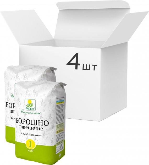 Упаковка муки пшеничной Терра 1 кг х 4 шт (4820015737748) - изображение 1