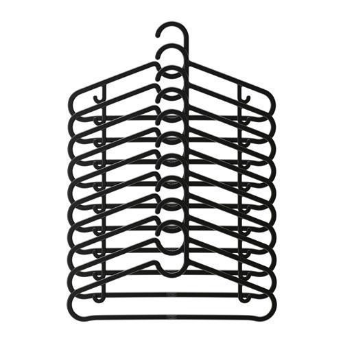 Набор вешалок IKEA SPRUTTIG для одежды 10 шт черный (203.170.79) - изображение 1