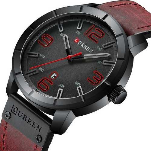 Наручний годинник AlexMosh чоловічі Curren Red-Black (1021) - зображення 1