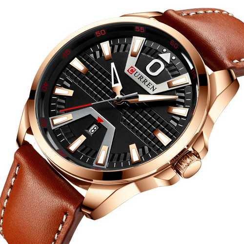 Наручний годинник AlexMosh чоловічі Curren Cuprum-Black-Brown (2010) - зображення 1