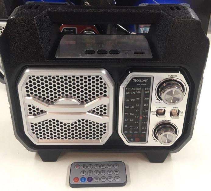 Портативний акустичний Радіоприймач Golon RX 2019 з Bluetooth USB FM AM радіо Чорний (TY460) - зображення 1