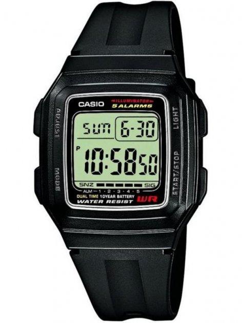 Чоловічі наручні годинники Casio F-201WA-1AEF - зображення 1