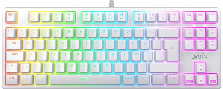 Клавиатура проводная Xtrfy K4 TKL RGB Kailh Red USB White UKR RUS (XG-K4-RGB-TKL-WH-R-UKR) - изображение 1