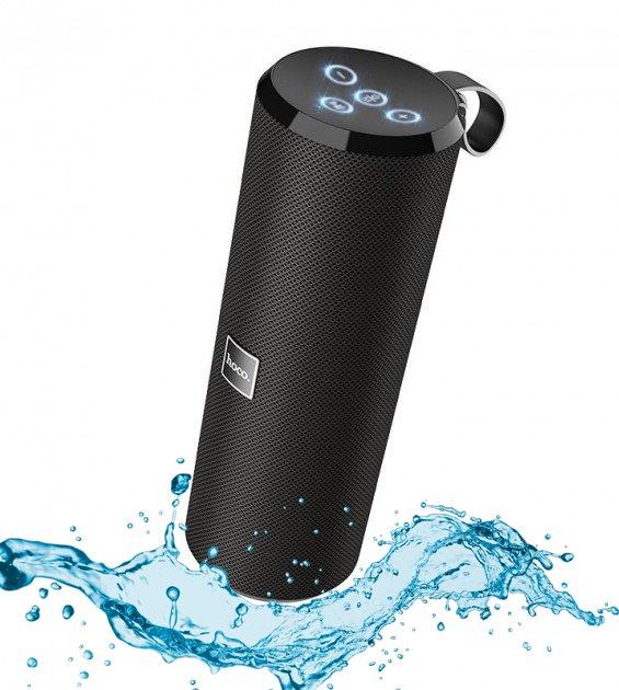 Акустическая портативная влагозащищенная система с 360° звучанием Bluetooth колонка Hoco BS33 Voice Sports. Черная - изображение 1