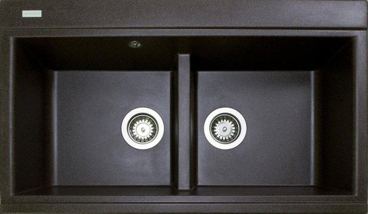 Кухонна мийка гранітна Pro100 Moyka SIMILAR коричневий-05 - зображення 1