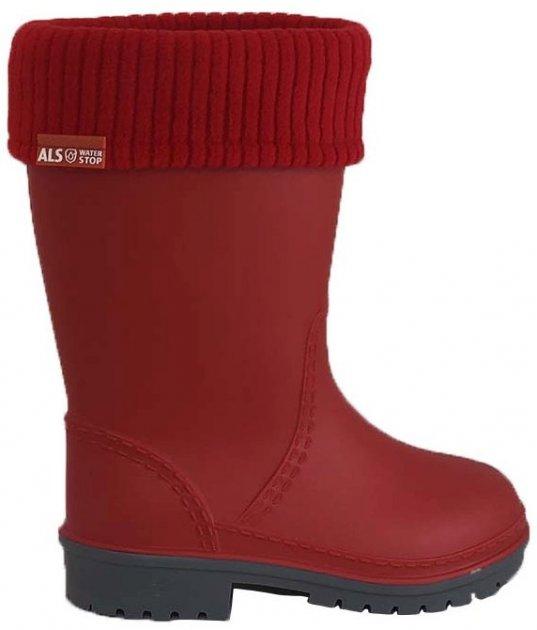 Резиновые сапоги Alisa Line WIN 801 40-41 27 см Красные (2500000060526) - изображение 1