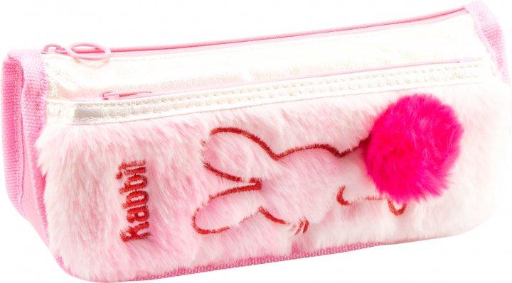 Пенал пушистый с аппликацией и помпоном Cool For School 2 отделения Розовый (6545-pink) - изображение 1