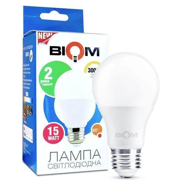 Светодиодная лампа Biom А65 15W E27 3000 K - зображення 1