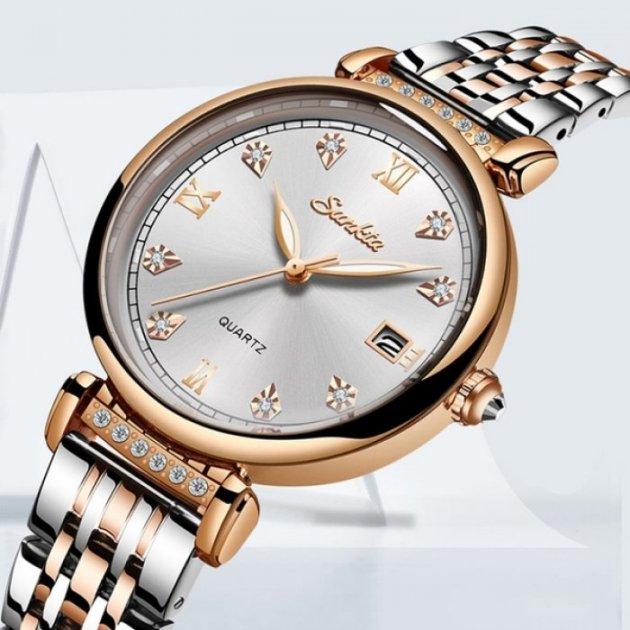 Годинники жіночі Sunkta Vivaro з металевим браслетом Чорний/Золотистий - зображення 1