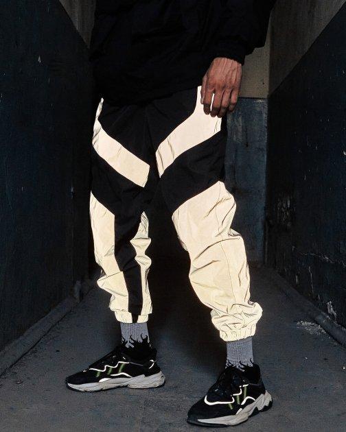 Спортивные штаны Пушка Огонь Dex черные с рефлективом XS - изображение 1