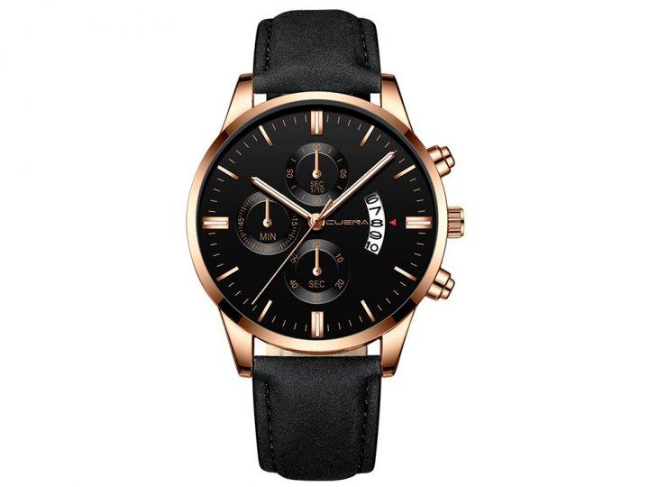 Часы Cuena Кварцевые мужские Type J Черный (1007-666-09) - изображение 1