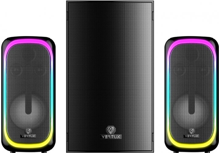 Акустична система Vertux SonicThunder-50 Вт 2.1 LED Black (sonicthunder-50.eu) - зображення 1