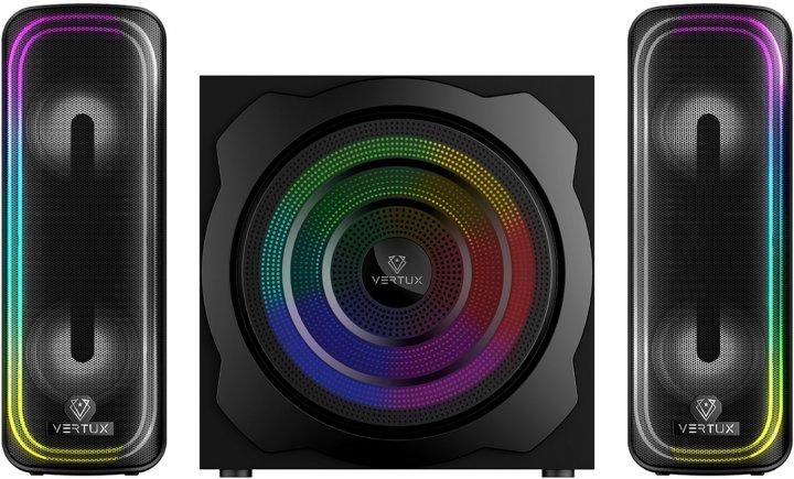 Акустична система Vertux SonicThunder-80 Вт 2.1 LED Black (sonicthunder-80.eu) - зображення 1