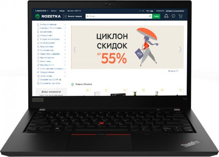 Ноутбук Lenovo ThinkPad T14 Gen 1 (20UD001RRT) Black - зображення 1