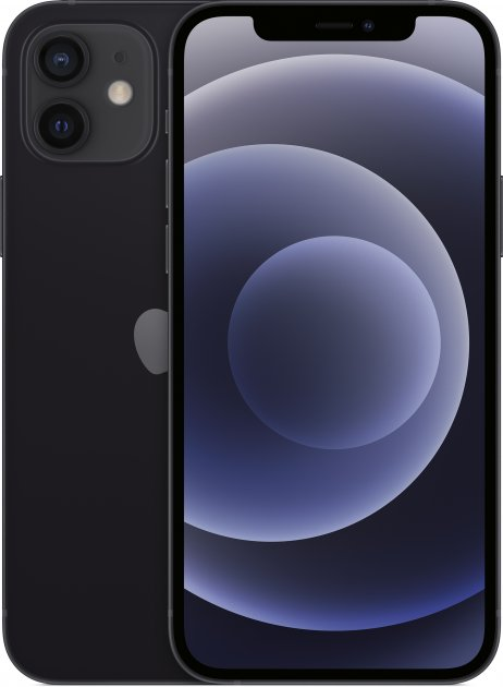 Мобильный телефон Apple iPhone 12 128GB Black Официальная гарантия - изображение 1