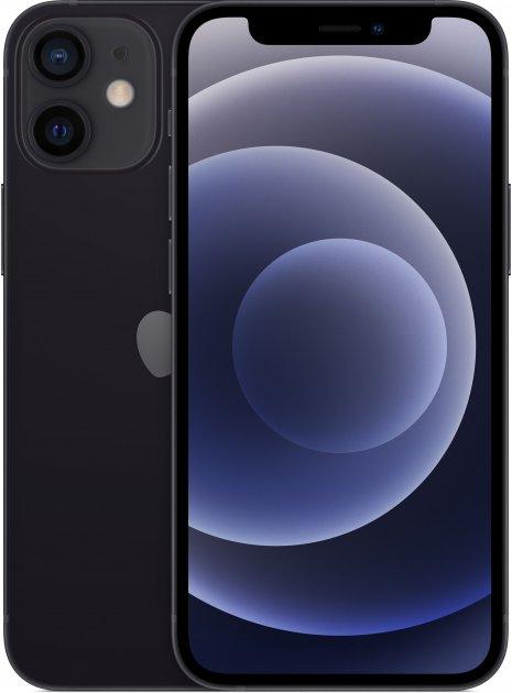 Мобильный телефон Apple iPhone 12 mini 64GB Black Официальная гарантия - изображение 1