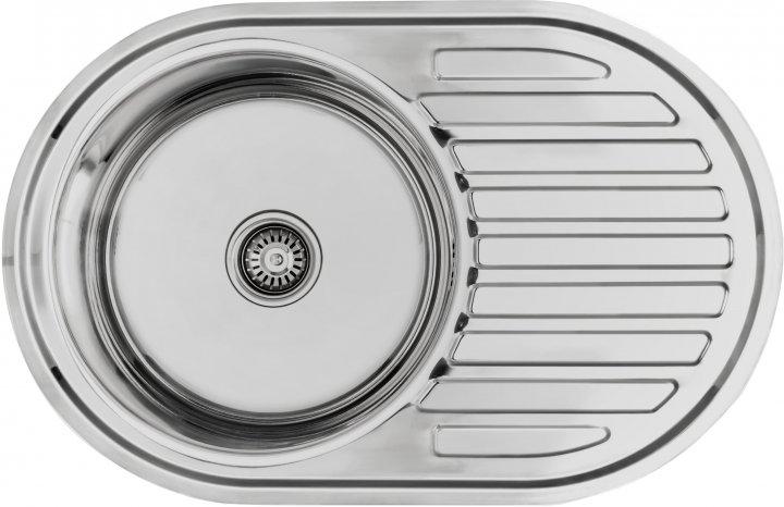 Кухонна мийка LEMAX 770х500х180 0.8 мм хром (LE-5003 CH) - зображення 1