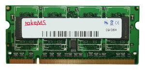 Оперативна пам'ять TakeMS 2Gb SO-DIMM DDR2 800MHz 2048MB PC2-6400 (TMS2GS264D082-806) - зображення 1