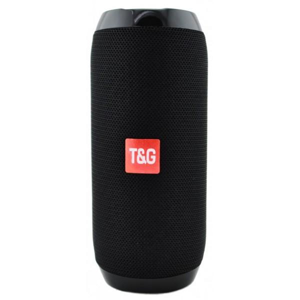 Портативна блютуз колонка T&G TG-117 SPEAKER Чорна 10 ВТ бездротова з флешкою радіо та слотом для карти Bluetooth 4.2 USB вологостійка (475 D) - зображення 1