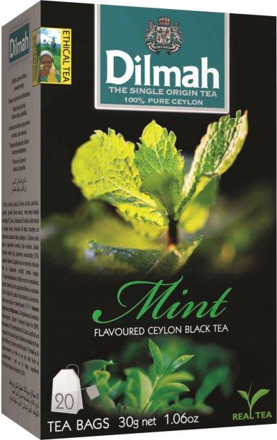 Чай черный пакетированный Dilmah Мята 1.5 г х 20 шт (9312631142174) - изображение 1
