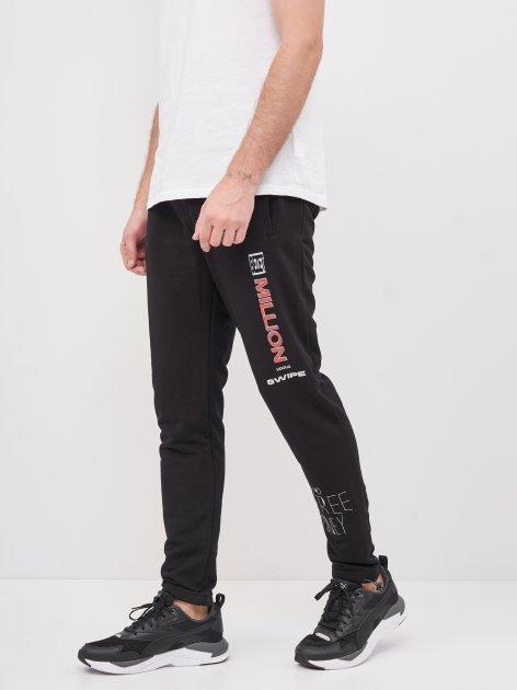 Спортивные штаны BEZET Million'20 XS Черные с принтом (ROZ6400018410) - изображение 1