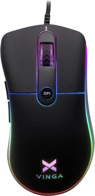 Мышь Vinga MSG-175 USB Black - изображение 1