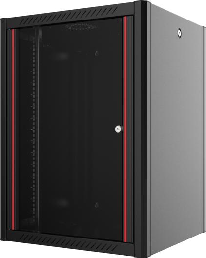 """Шафа настінна Mirsan WTN 19"""" 12U 600x450, RAL 9005 Чорний (MR.WTN12U45DE.01) - зображення 1"""