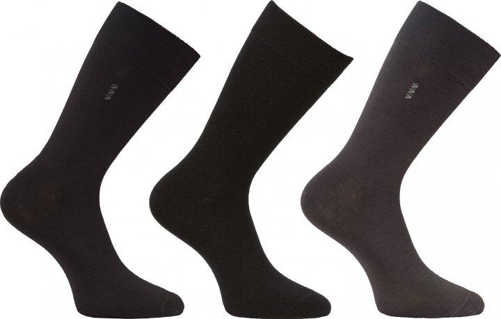 Набор носков Легка хода 974/3-1 3 пары 41-42 Черный/Темно-серый (ROZ6400021631) - изображение 1