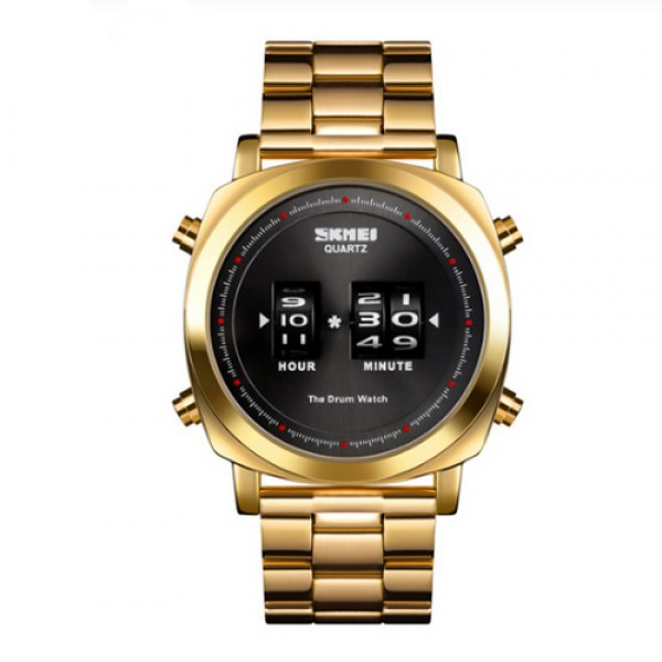 Наручний годинник Skmei 1531 Gold-Black - зображення 1