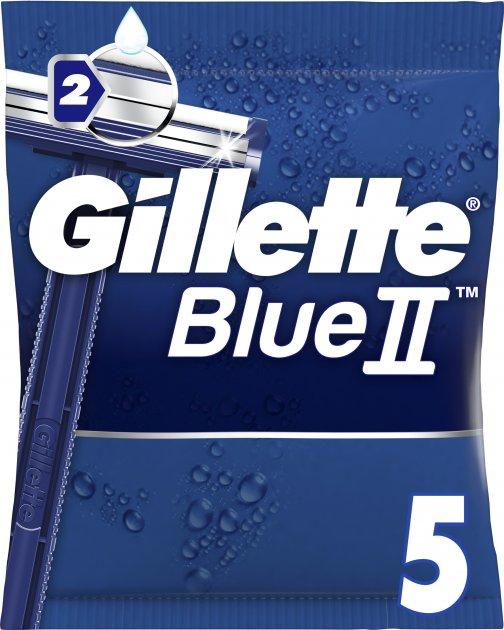 Одноразовые станки для бритья (Бритвы) мужские Gillette Blue 2 5 шт (7702018849031) - изображение 1