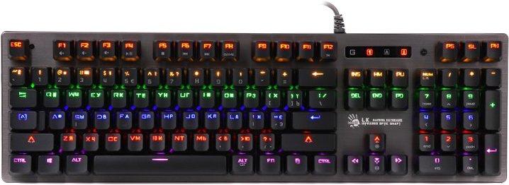 Клавіатура дротова Bloody B760 Green Sw Black (4711421953108) - зображення 1